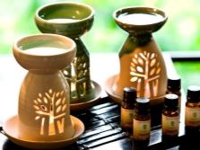 Lâmpada de aroma com óleo de tonka