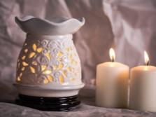 Aromatinis lempa su tonos pupelių aliejumi