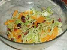 Salada com cebola de erva-doce