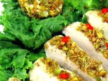 Daging dengan pistachios