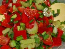Saladas de legumes com aipo