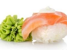 Wasabi ao sushi