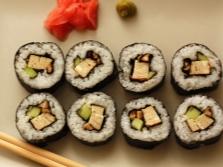 Šitakės grybų suši
