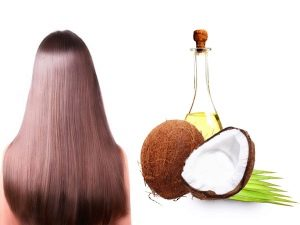 Óleo de cabelo de coco