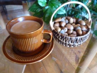 Acorns kafija kuņģī