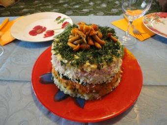 Salate mit Honigpilzen