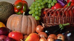 Outono frutas e legumes