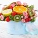 Buquês de frutas em caixas: fazendo dicas e belos exemplos