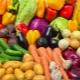 Kalorijų žaliavos ir virti daržovės
