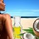 Характеристики на използването на кокосово масло от слънчево изгаряне