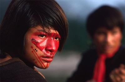 India muda dicat dengan pewarna annatto