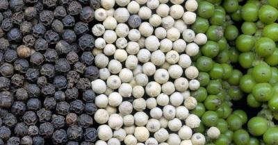 Pote de pimenta de diferentes tipos