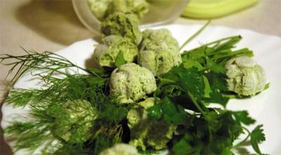 Aceite verde con perifollo