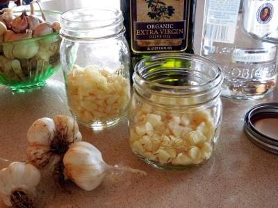 Τζίντζερ με σκόρδο σε ηλιέλαιο