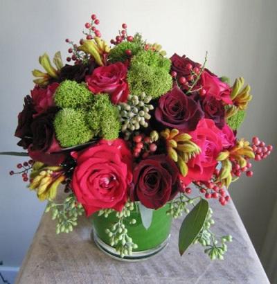 Μπουκέτα λουλουδιών με ροζ πιπέρι