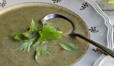 Salierų grybų sriuba