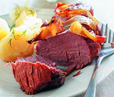 Rindfleisch mit Kümmel