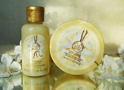 Crema cosmética con extracto de vainilla.