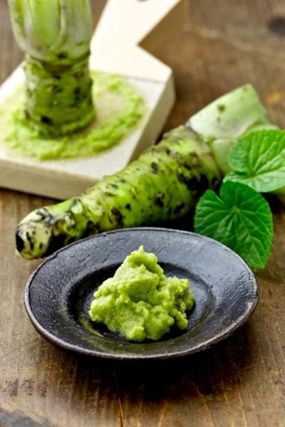 Frisches Wasabi helfen der Medizin