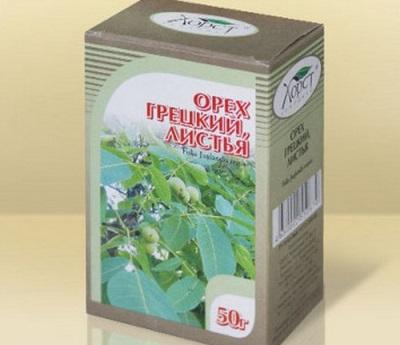 Una gran cantidad de materias primas medicinales se preparan a partir de hojas de nuez.