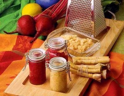 Preparación de rábano picante para el invierno.