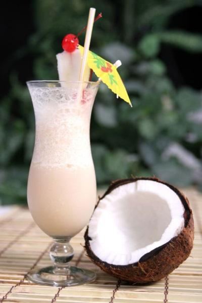 Koktail susu kelapa