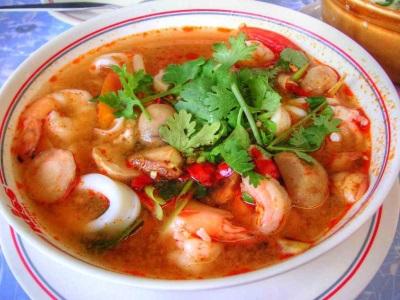 Tom Yam Kha Kung, dimasak dari udang