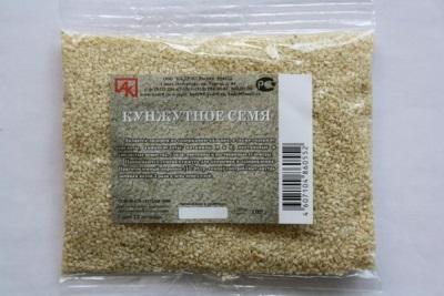 Σπόροι σουσαμιού στη συσκευασία