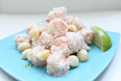 Krabben Raffaello mit Macadamia-Nüssen
