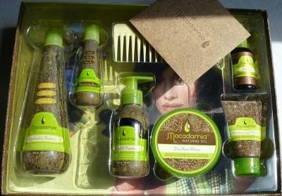 No makadāmijas eļļas ražo virkni matu kopšanas līdzekļu.
