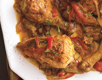 Ayam dengan paprika