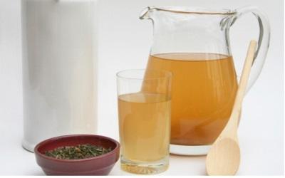 Preparação de infusão de fungo de chá