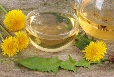 Überzogener Zuckerlöwenzahn-Blumensirup