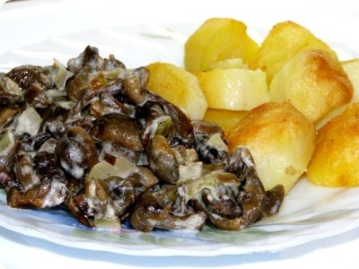 Gebratene Pilze