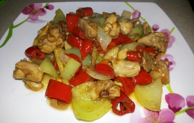 Mexikói csirke chili paprikával