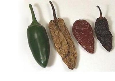 Jalapeno αποξηραμένες και καπνιστές πιπεριές