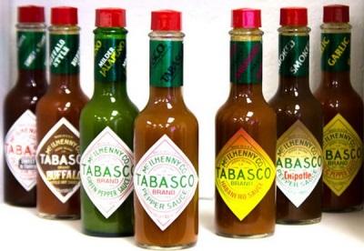 Tabasco-Pfeffersaucen